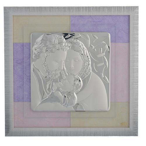 Quadro S. Famiglia rosa - lilla 33x34 cm 1