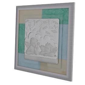 Quadro Battesimo Celeste - Verde 33x34 cm s2