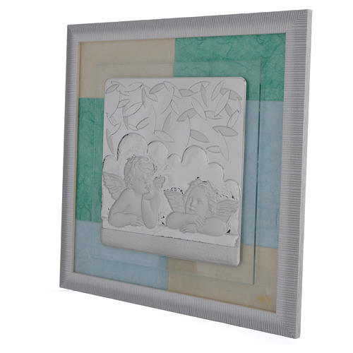 Quadro Battesimo Celeste - Verde 33x34 cm 2