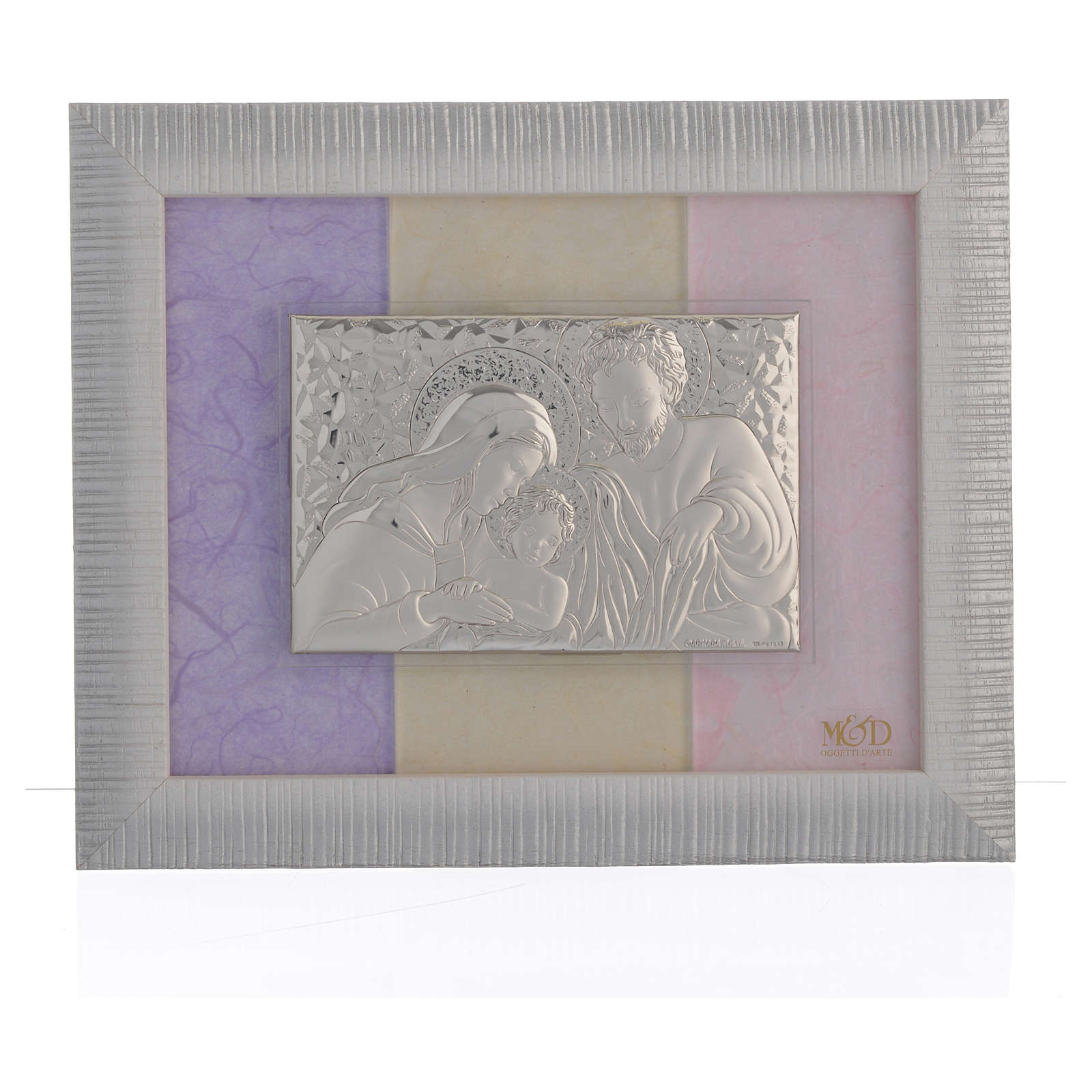 Quadro S. Famiglia Argento rosa - lilla 18x22 cm 3