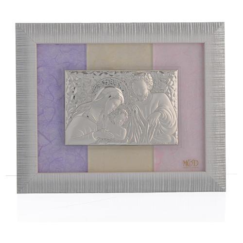 Quadro S. Famiglia Argento rosa - lilla 18x22 cm 1