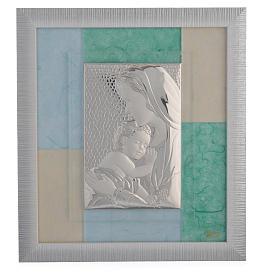 Cadre Naissance bleu-vert 29x26 cm s1
