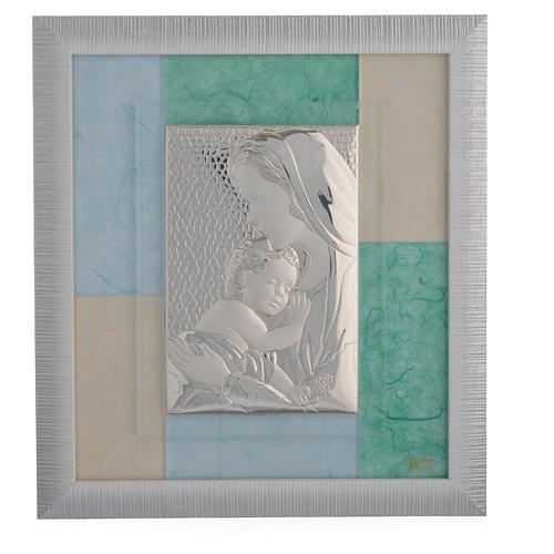 Cadre Naissance bleu-vert 29x26 cm 1