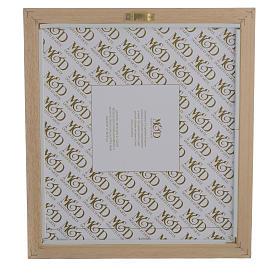 Quadro Nascita celeste - verde 29x26 cm s3