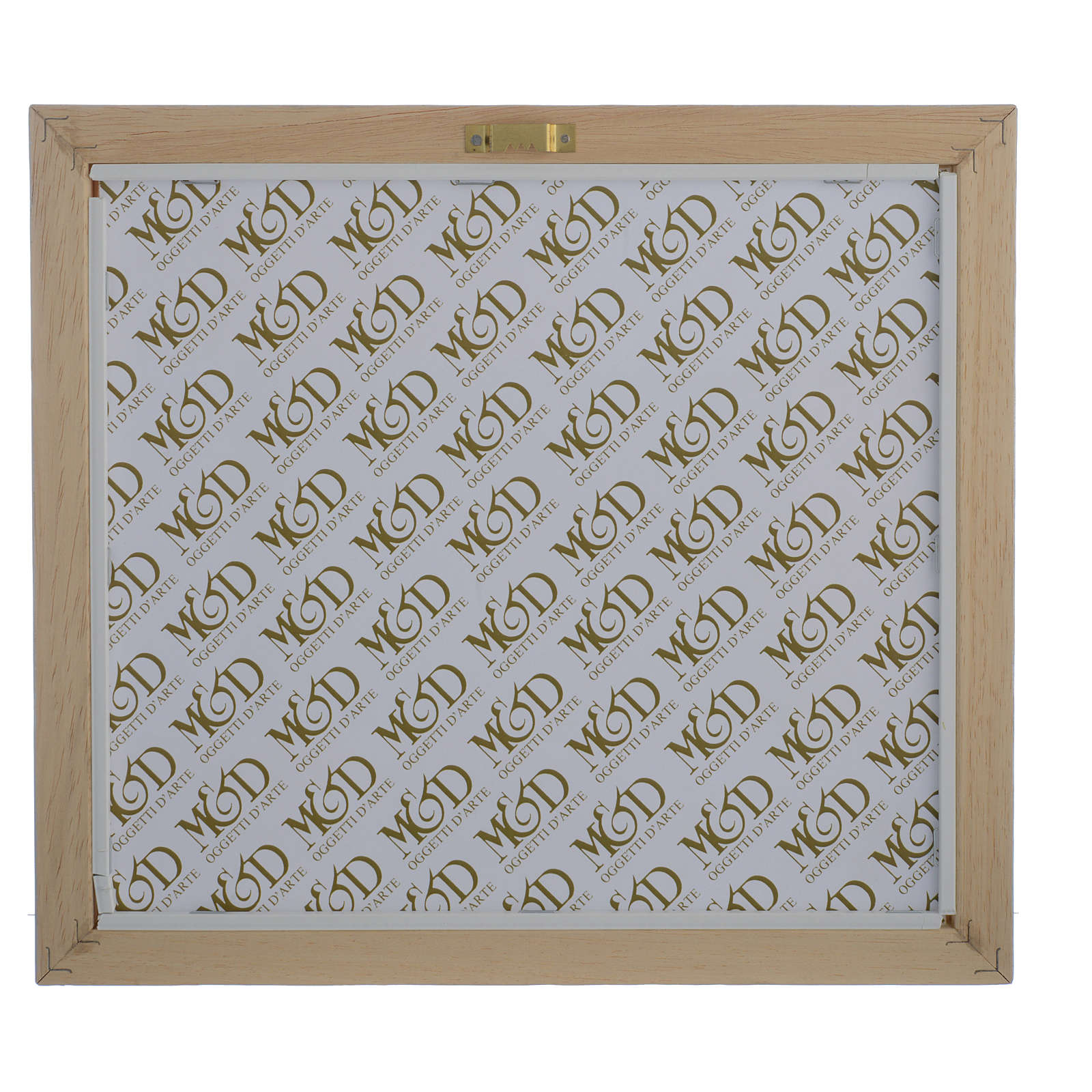 Quadro Matrimonio S. Famiglia Avorio-tabacco 29x26 cm 3