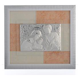 Quadro Matrimonio S. Famiglia Avorio-tabacco 29x26 cm s1