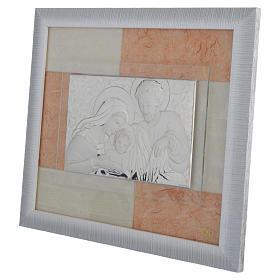 Quadro Matrimonio S. Famiglia Avorio-tabacco 29x26 cm s2