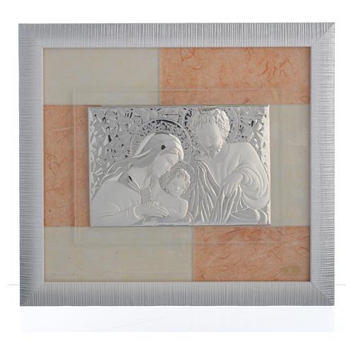 Quadro Matrimonio S. Famiglia Avorio-tabacco 29x26 cm 1