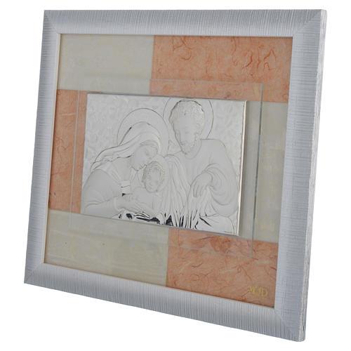 Quadro Matrimonio S. Famiglia Avorio-tabacco 29x26 cm 2