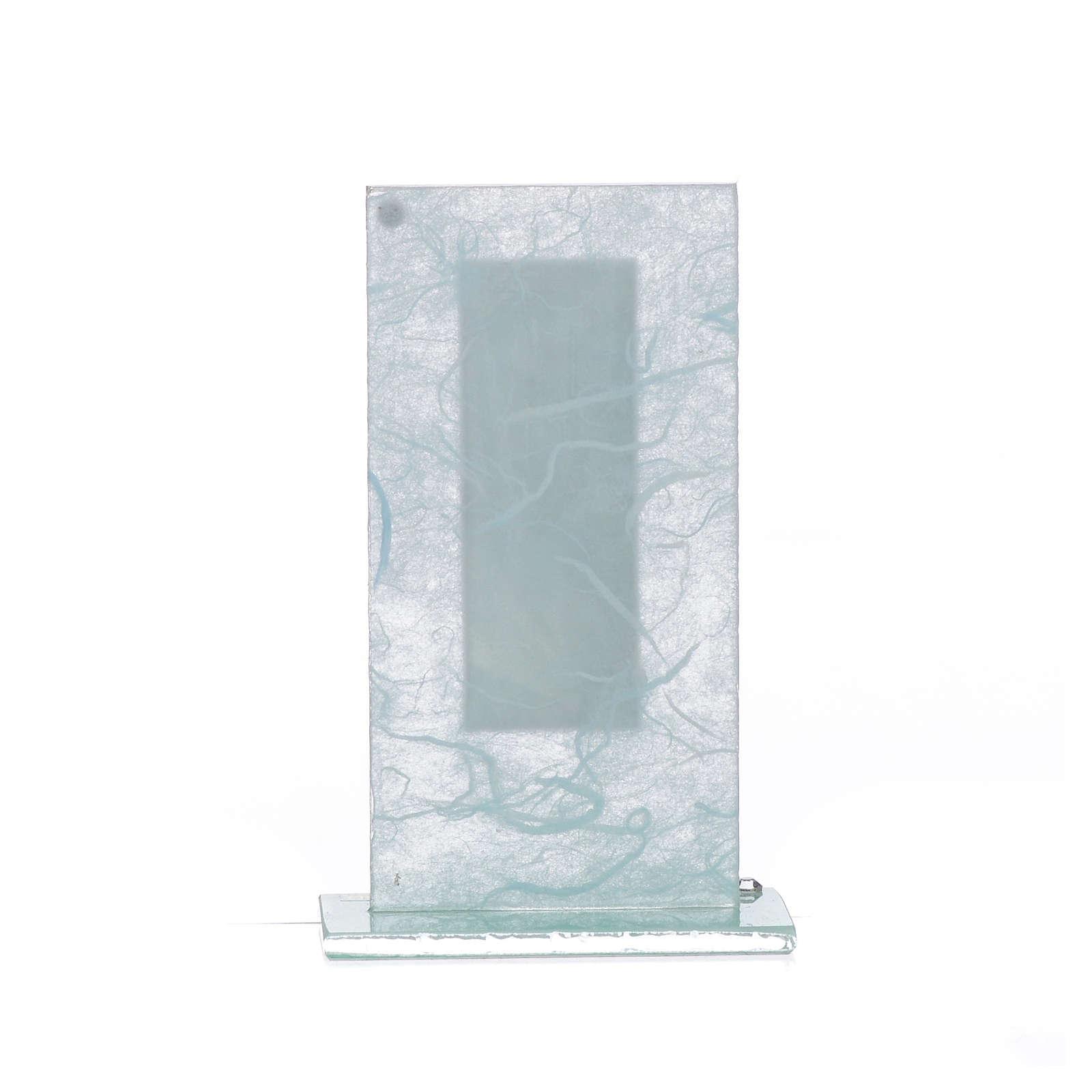 Regalo S. Familia Plata celeste h.11.5 cm 3
