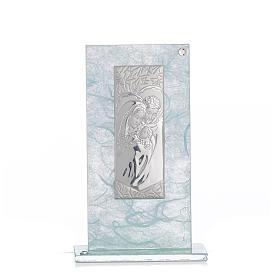 Regalo S. Familia Plata celeste h.11.5 cm s1