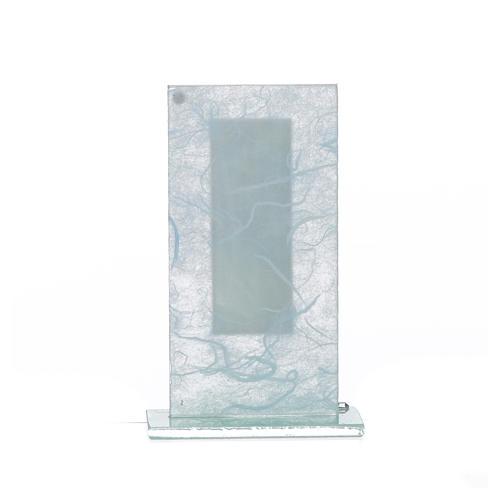 Regalo S. Familia Plata celeste h.11.5 cm 6