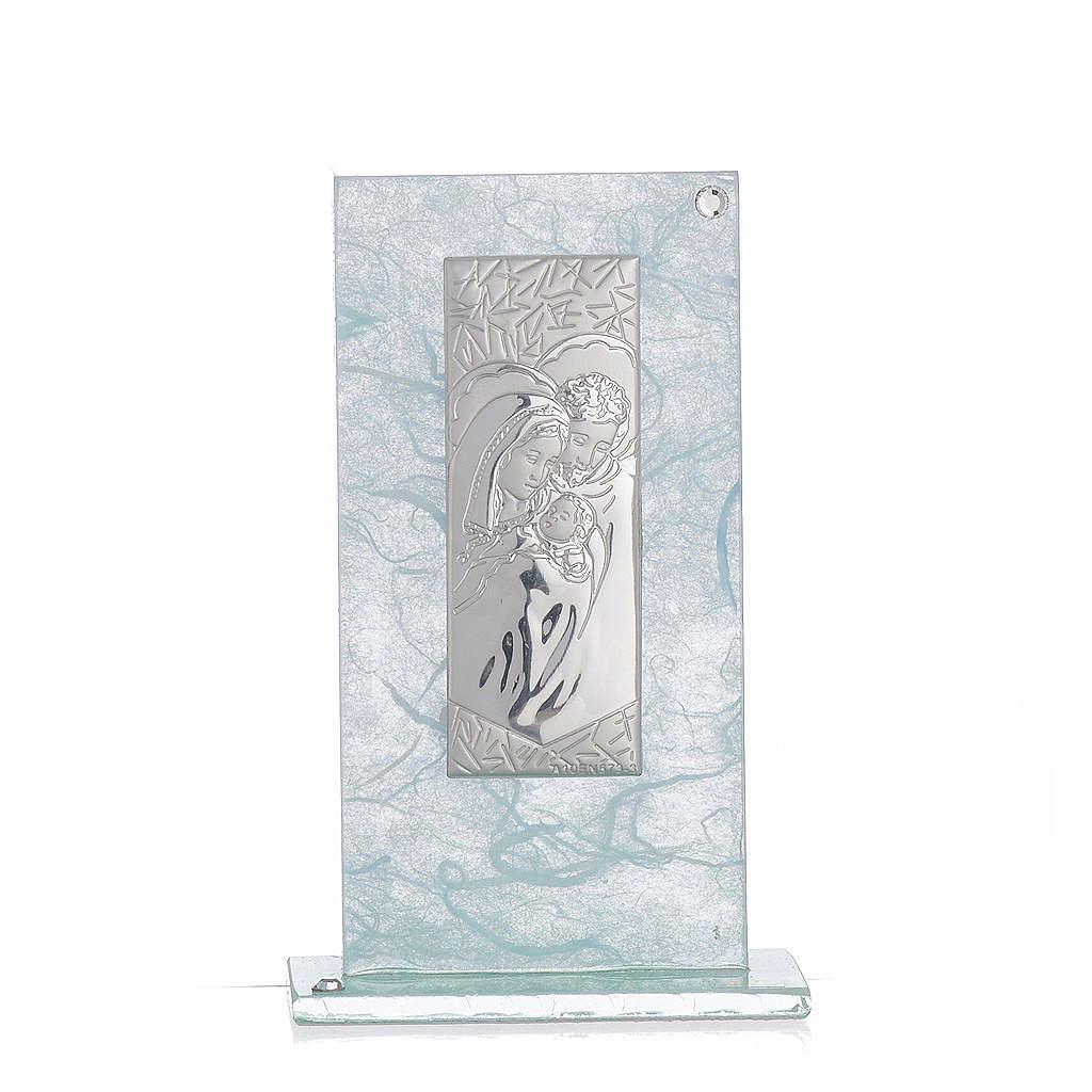 Bonbonnière Ste Famille argent céleste h 11,5 cm 3