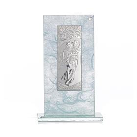 Bonbonnière Ste Famille argent céleste h 11,5 cm s4
