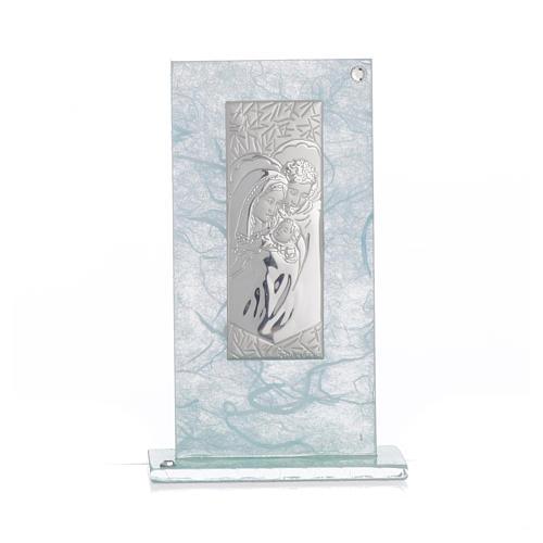 Pamiątka święta Rodzina srebrny i niebieski 11,5cm 4
