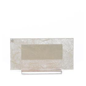 Bonbonnière Naissance h 11,5 cm verre ambre s3