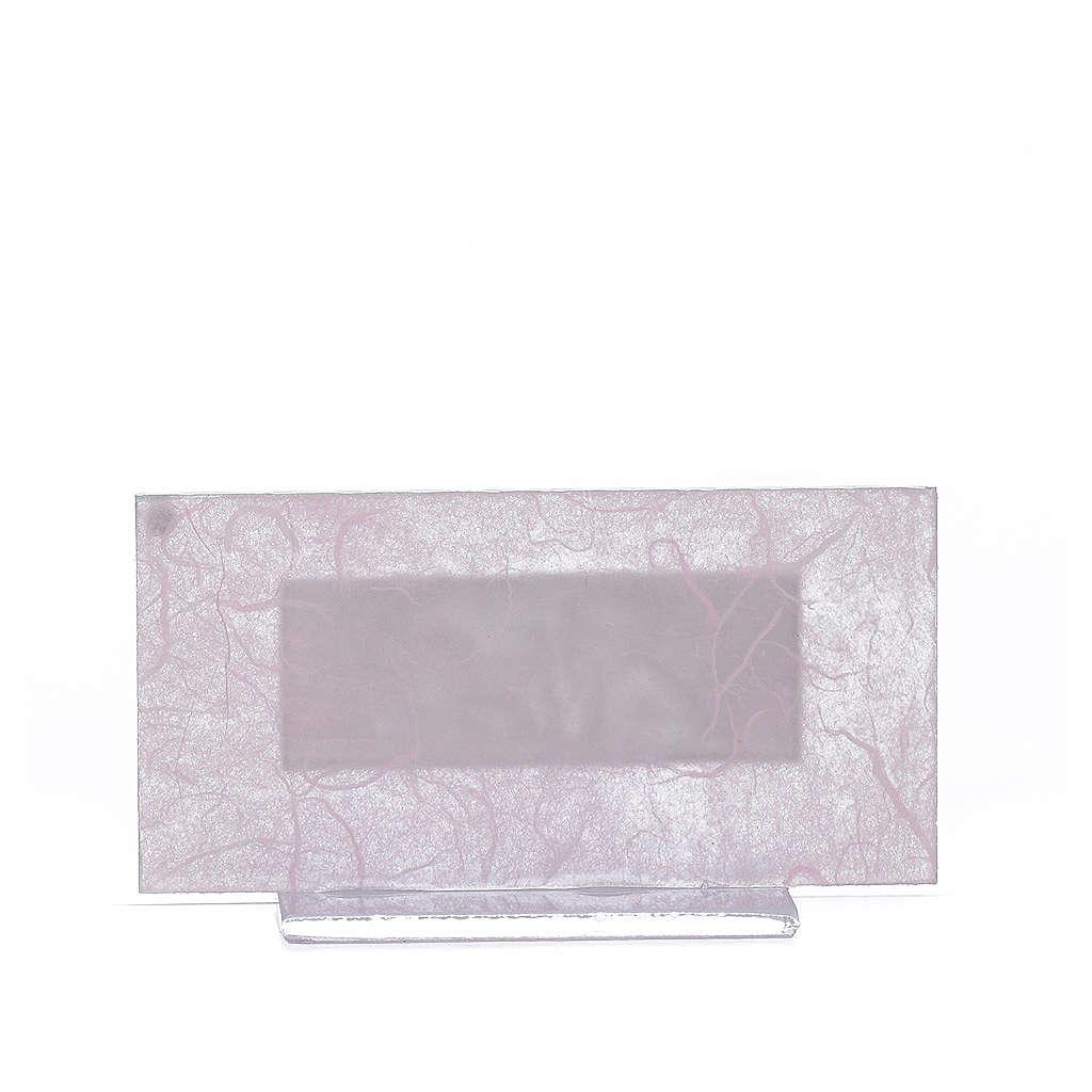 Regalo Nacimiento vidrio rosa-púrpura h. 11.5 cm 3
