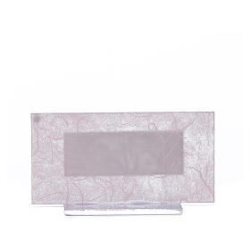 Regalo Nacimiento vidrio rosa-púrpura h. 11.5 cm s3