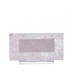 Bonbonnière Naissance verre rose-lilas h 11,5 cm s6