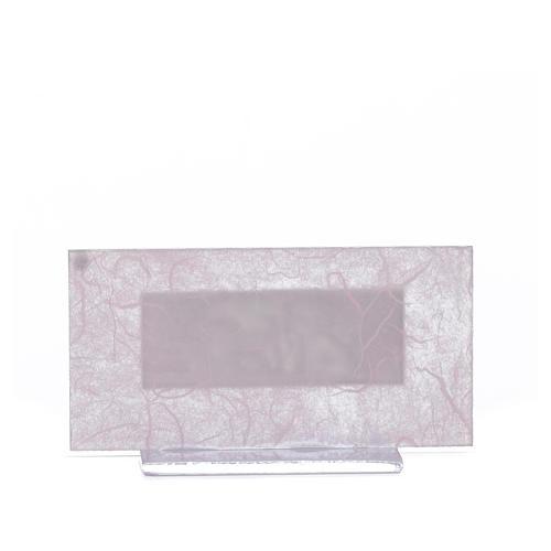 Bonbonnière Naissance verre rose-lilas h 11,5 cm 6