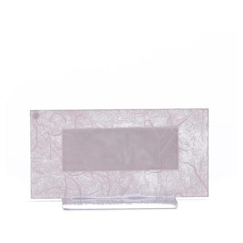 Lembrancinha Nascimento vidro cor-de-rosa/lilás h 11,5 cm 3