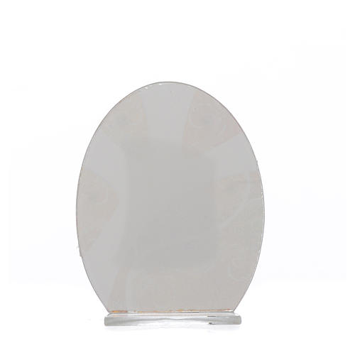 First Communion favour, in silver and glass 10.5cm 6