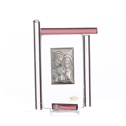 Bomboniera Sacra Famiglia Murano viola h.9 cm 1