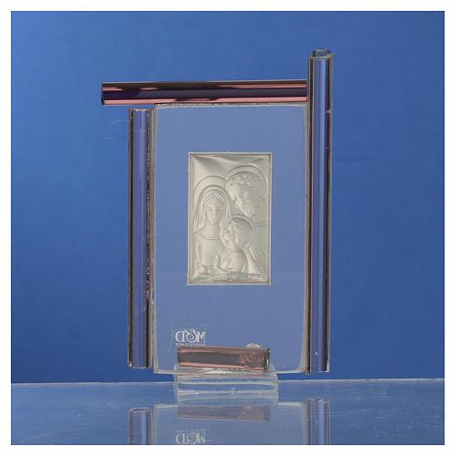 Bomboniera Sacra Famiglia Murano viola h.9 cm 4