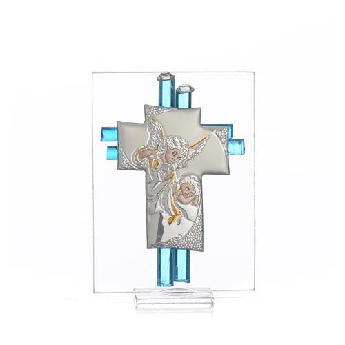 Bomboniera Battesimo Angelo vetro Murano acqua h. 8 cm 1