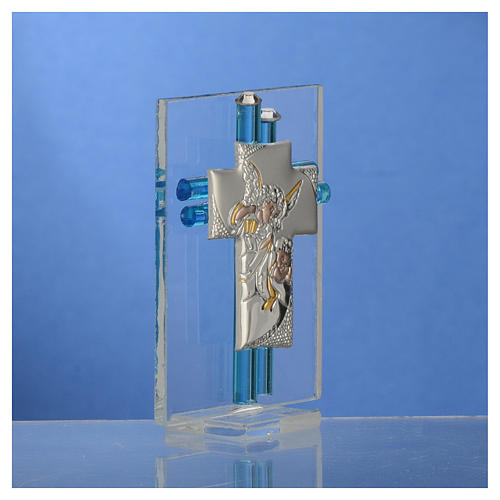 Bomboniera Battesimo Angelo vetro Murano acqua h. 8 cm 3
