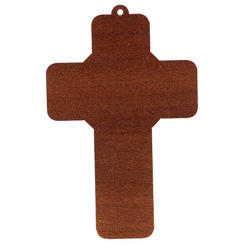 Cross pvc Baptism with greeting card ITALIAN 2
