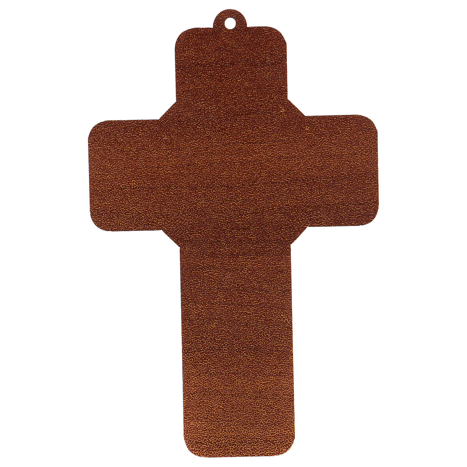 Cross pvc Baptism with greeting card ITALIAN 3