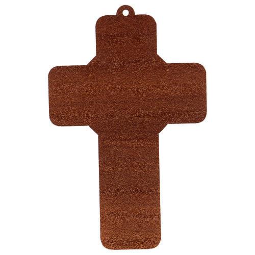 Cross pvc Baptism with greeting card ITALIAN 2