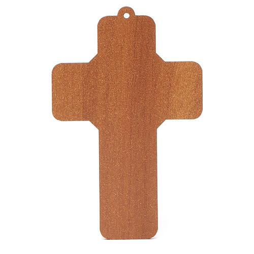 Croce pvc Battesimo con cartoncino ricordo 4