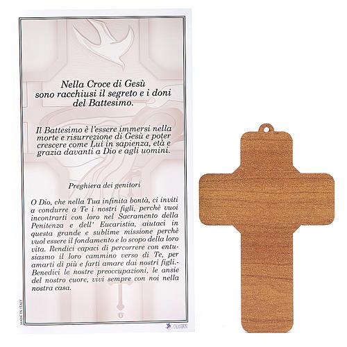 Croce pvc Battesimo con cartoncino ricordo 2