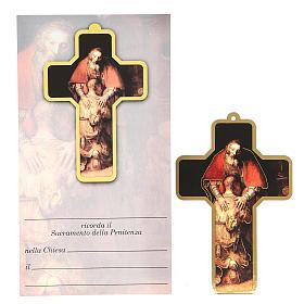 Croce pvc Penitenza 13x8,5 cm s1