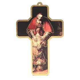 Croix pvc pénitence avec carte souvenir s3