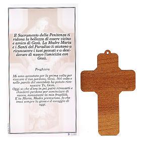 Croix pvc pénitence avec carte souvenir s2
