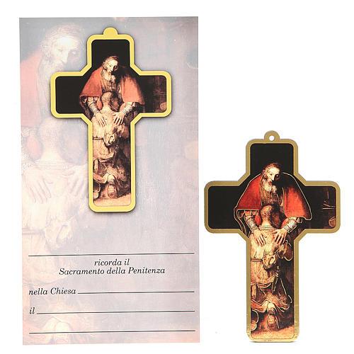 Croix pvc pénitence avec carte souvenir 1