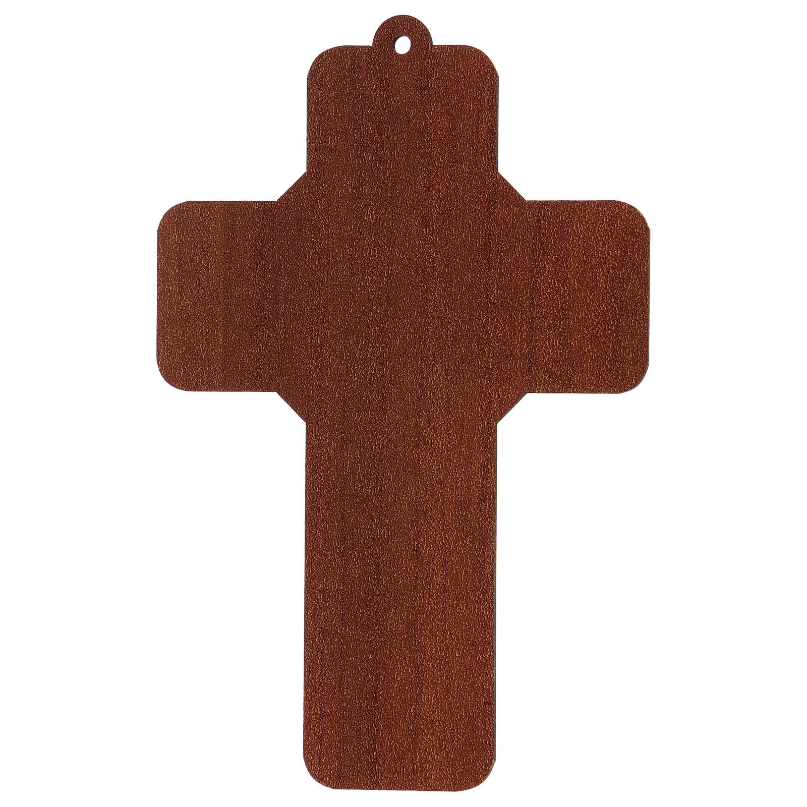 Cruz pvc Primeira Comunhão 13x8,5 cm 3