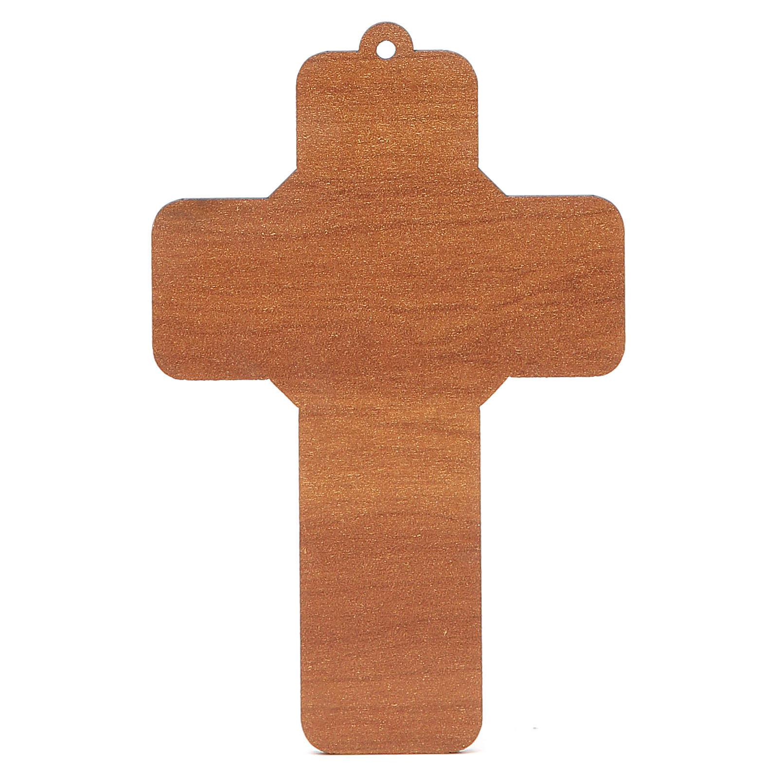 Croce pvc Prima Comunione con cartoncino ricordo 3