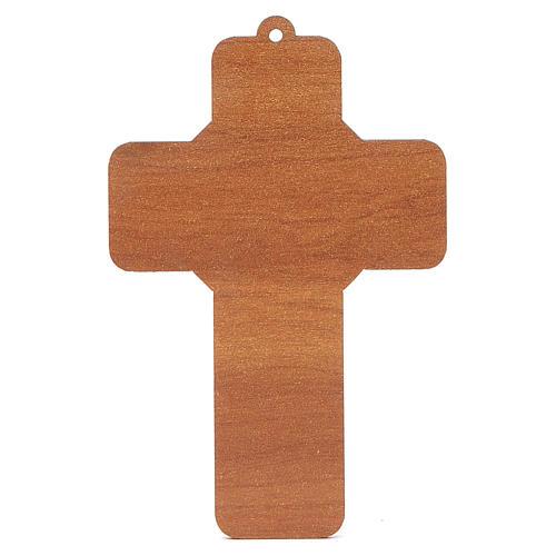 Croce pvc Prima Comunione con cartoncino ricordo 4