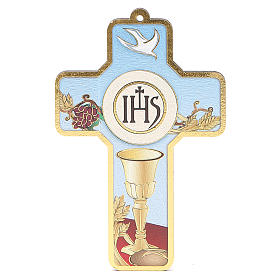 Krzyż pvc Pierwsza Komunia z kartką  pamiątkową s3