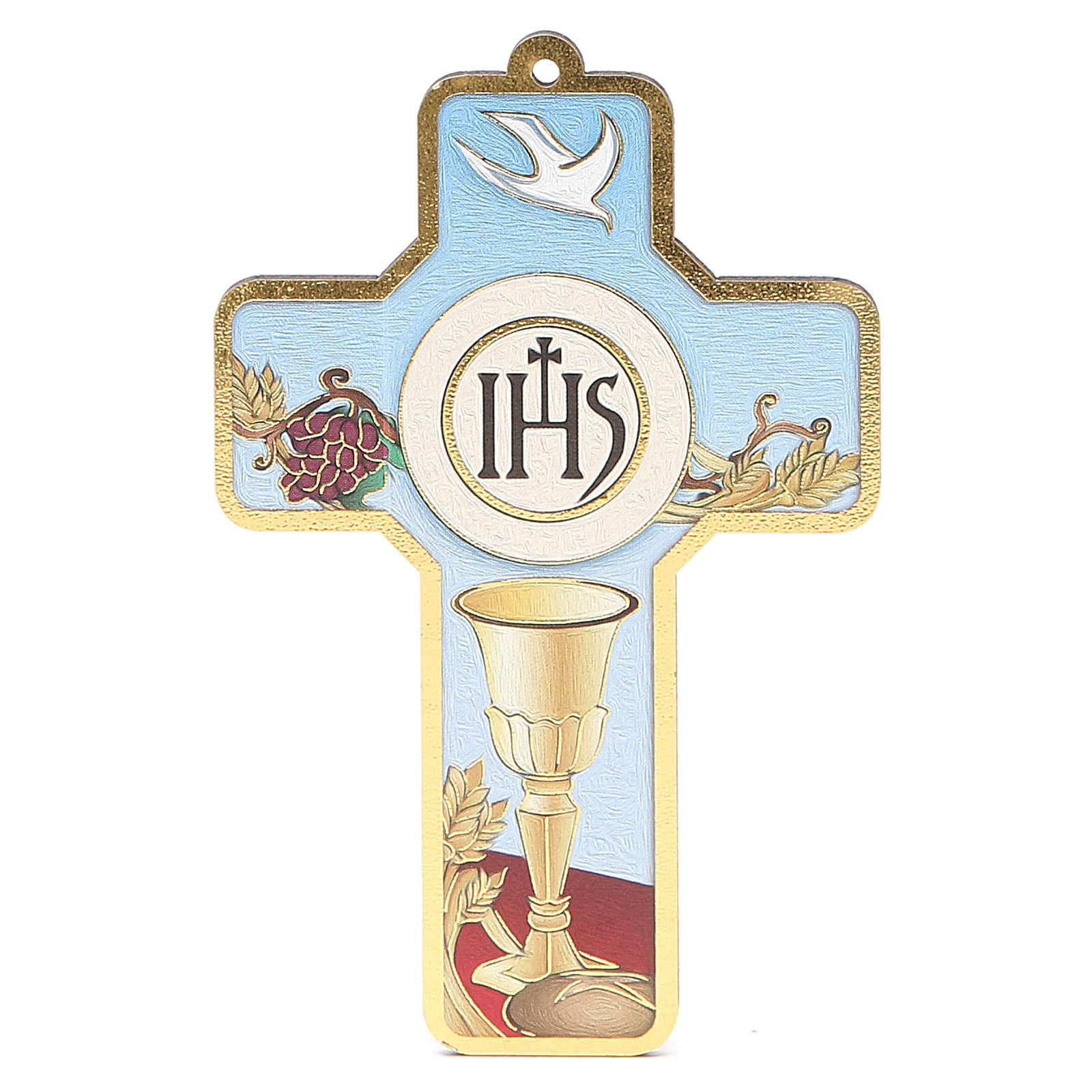 Cross pvc First Communion 13x8,5cm 3
