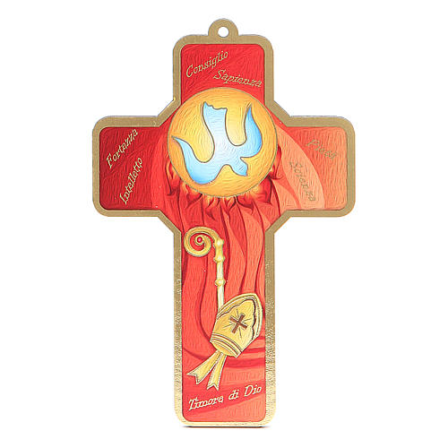 Cross pvc Confirmation with greeting card ITALIAN 1