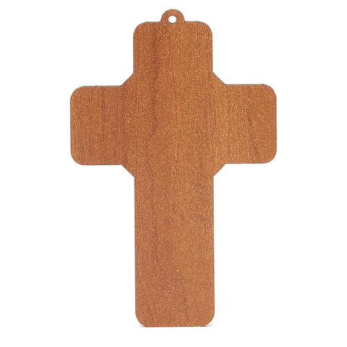 Croce pvc Cresima con cartoncino ricordo 4