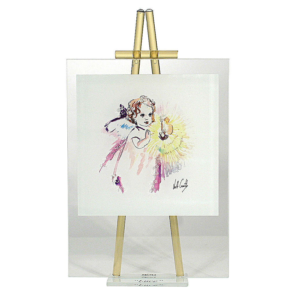 Cadre aquarelle 'Eccomi' à poser topaze 24x14 cm 3