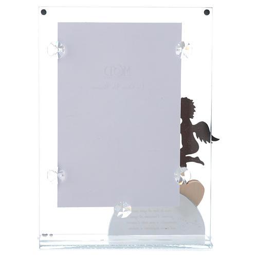 Portafoto Angelo e frase Blu 14x20 cm 3