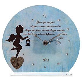 Orologio Angelo con poesia Blu s1