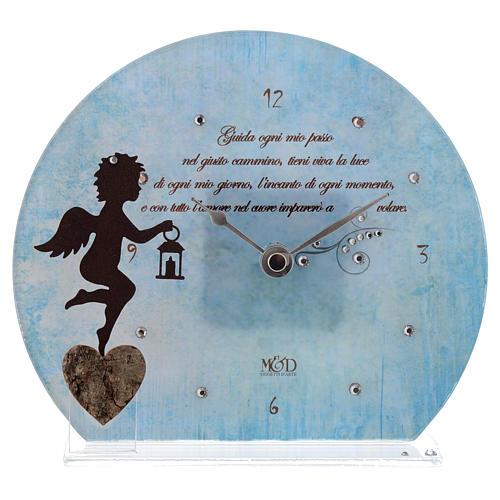 Orologio Angelo con poesia Blu 1